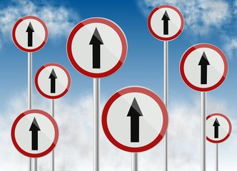 direction traffic signs