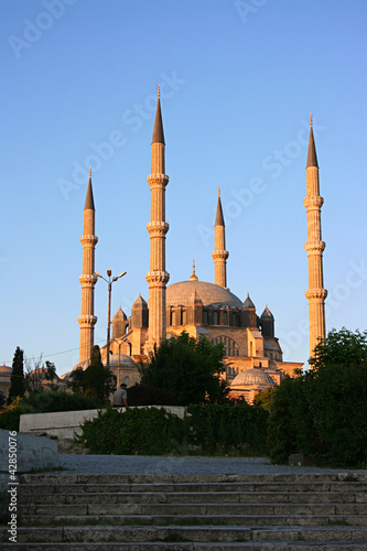 Selimiye Mosque During Sunset,Edirne,Turkey