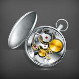 Mechanical clock, vector