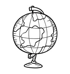 globe in doodle style