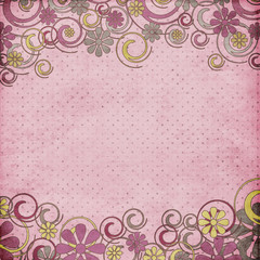 Vintage flower template, floral background