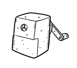 sharpener in doodle style