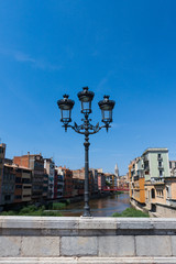 Girona bridge lantern Spain