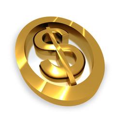 3d simbolo oro