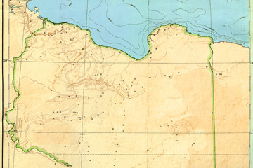 Old map (1929) of Libya