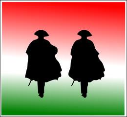Carabinieri in grande uniforme