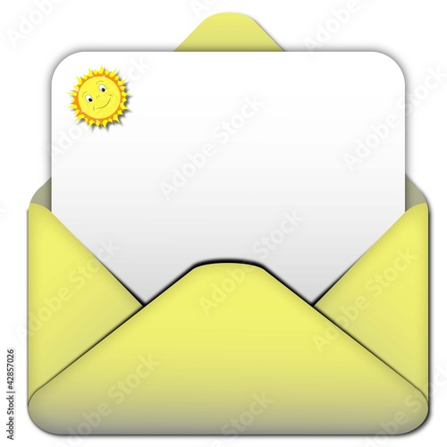 Envelope yellow