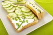 Sanwiches mit Gurke