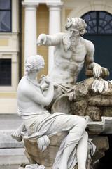 Vienna - fountain in castle Schonbrunn