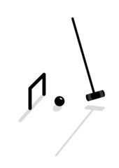 Vector icon to play croquet equipment