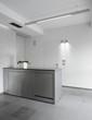 mobile penisola di acciaio di cucina moderna