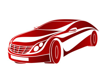 Kırmızı rüya otomobil