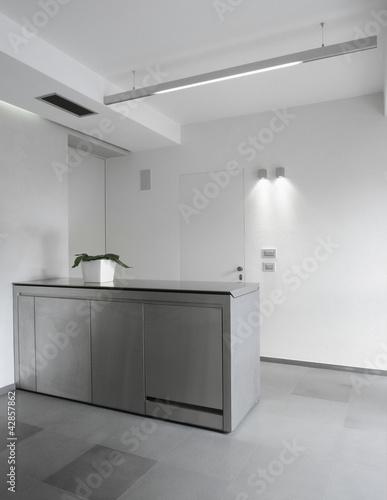 Mobile penisola di acciaio di cucina moderna di adpephoto - Abbonamento cucina moderna ...