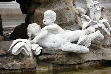 Angel, Vienna - fountain in castle Schonbrunn
