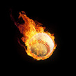 Baseball in Flammen 3D