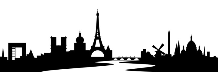Paris Skyline mit Seine