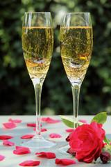 flut con champagn