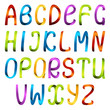 Color ribbon alphabet set