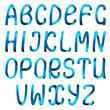 Blue ribbon alphabet set