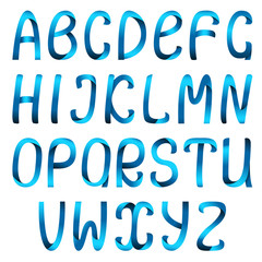 Blue ribbon alphabet set