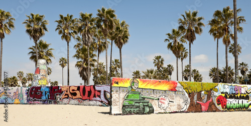 Art walls on Venice beach, Los Angeles, California, USA