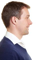 Portrait im Profil eines Mannes
