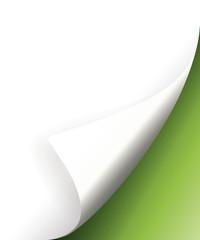 Grüne Papier Ecke Hintergrund