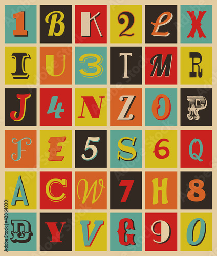 Retro Letters and Numbers