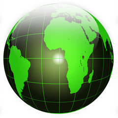 Black and Green Globe