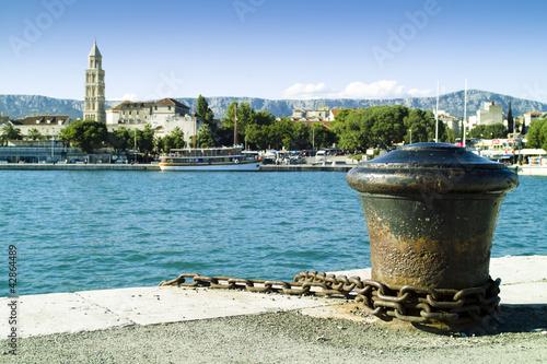 Fotobehang Overige Split town in Croatia view from the sea