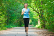 Young woman jogging outdoors
