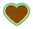 Grünes Lebkuchenherz