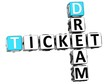 3D Dream Ticket Crossword