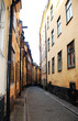 A beautiful old street view in Stockholm, Sweden