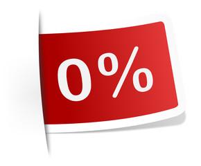 Schild 0 Prozent