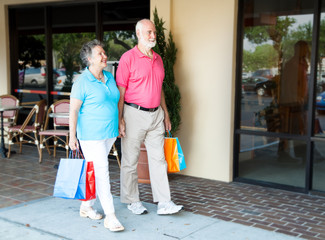 Seniors at Shopping Center