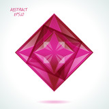 Abstract rhombus design (vector speech) poster