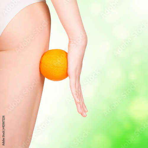 beautiful female figure with orange