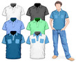 Men's polo-shirts design template (front view)