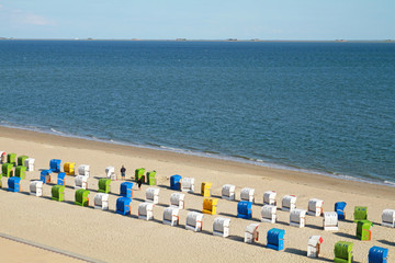 Strandkörbe auf Föhr