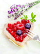 Heart-shaped redcurrant tartlet