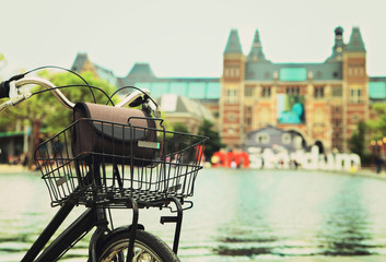 Bicycle with I Amsterdam sign