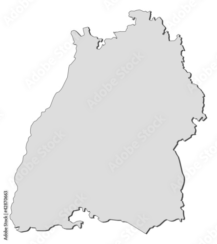Map of Baden-Württemberg (Germany)