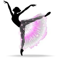 Ballerina Danza Classica-Classic Dance Dancer-Vector Silhouette