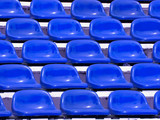 regular Blue seats in a stadium poster
