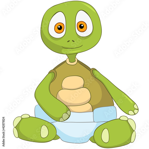 Funny Turtle. Baby.