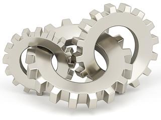 Three bronze gears