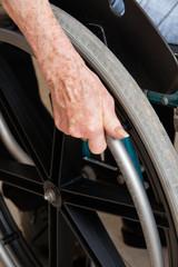 Hand On Wheelchair