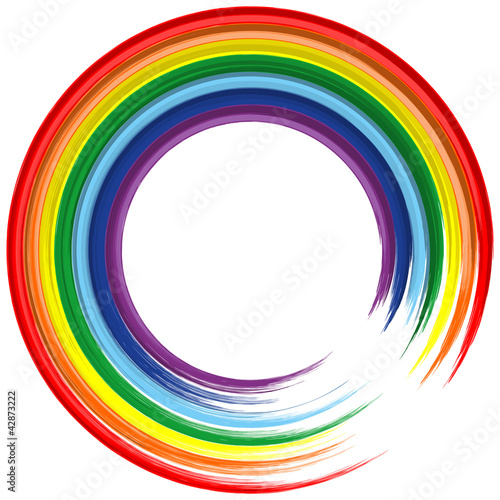Art rainbow frame abstract vector background 2