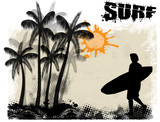 Surf poster background